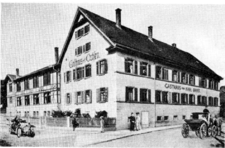 Gasthaus Ochsen im Jahre 1910