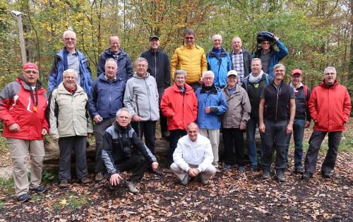 Gruppenbild Herrenwanderung 2017 bei Kirchheim